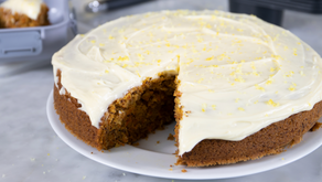 A delicious, creamy carrot cake for Easter