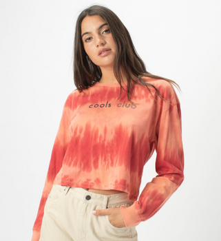 Cools Club - Homegirl Long Sleeve Tee - Blush Tie Dye