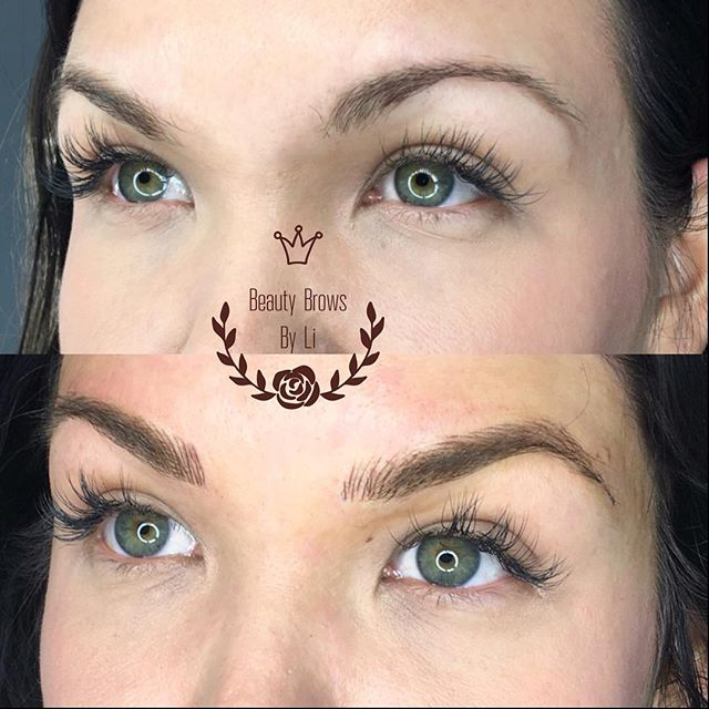 Great before and after! Microblading and manual shading