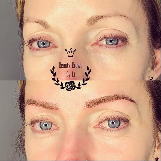 Another crazy transformation!! Updated brows for this sexy momma ✔️✔️✔️