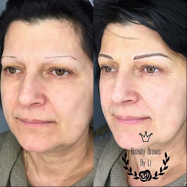 We can't get over these brows.jpg Took off ten years easily off this amazing women!! Microblading &