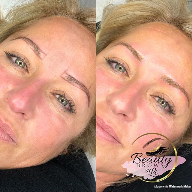 All the way from #fortlauderdale!!! This gorgeous client wanted natural updated brows