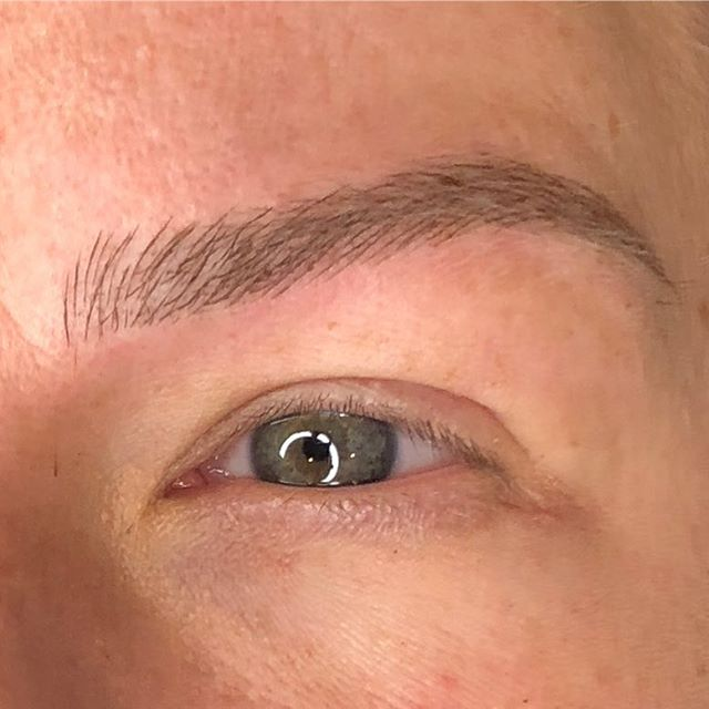 A closeup detailed shot! This brow is a