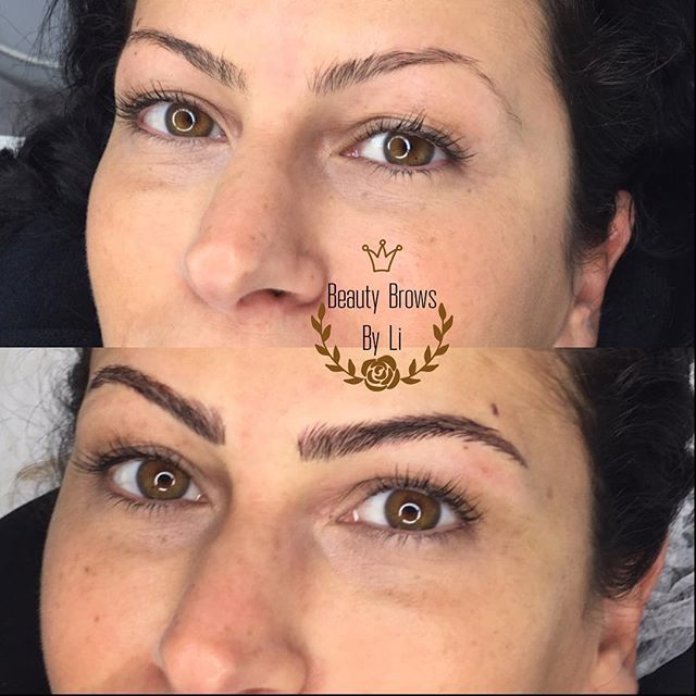 Just accentuating what's already a good shape! She needed more density and a fuller lifted brow