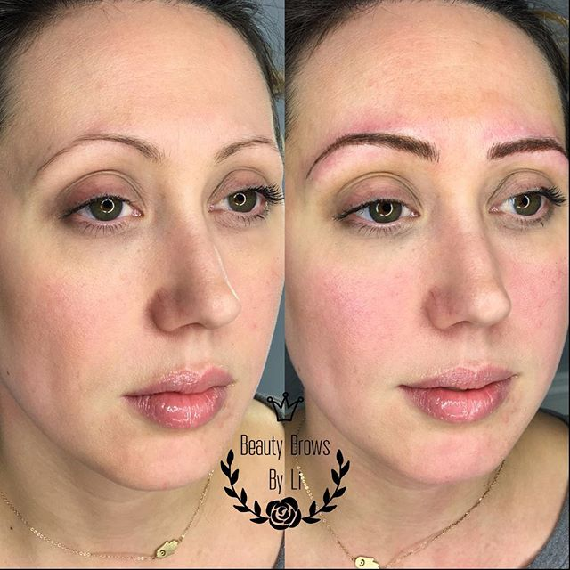 Even though we stayed delicate and thin...we completely changed the proportion of her brows