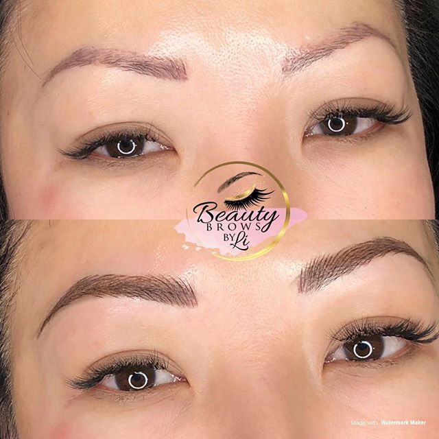 Correction over old microbladed brows (n
