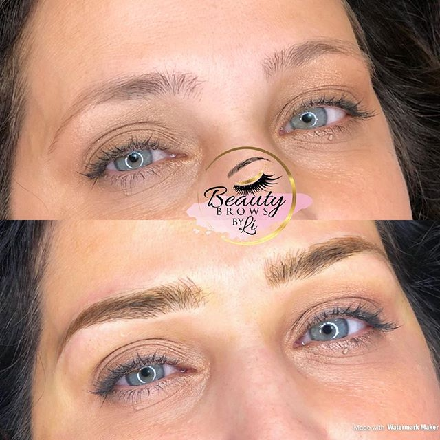 """This brow is to die for! My beautiful client and her """"fresh"""" start 👅❤️💋"""