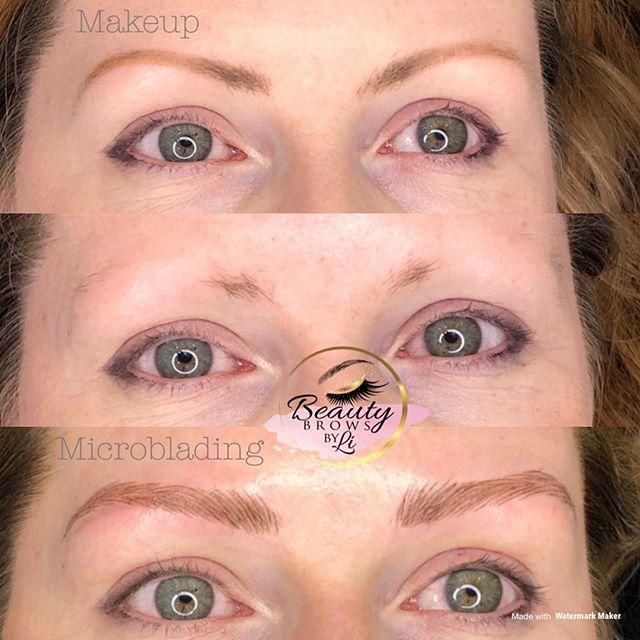Makeup vs Microblading & shading combo!