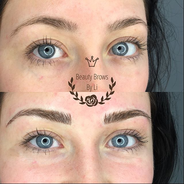 Gave this stunning beauty a pair of killer brows! 🖤🖤🖤