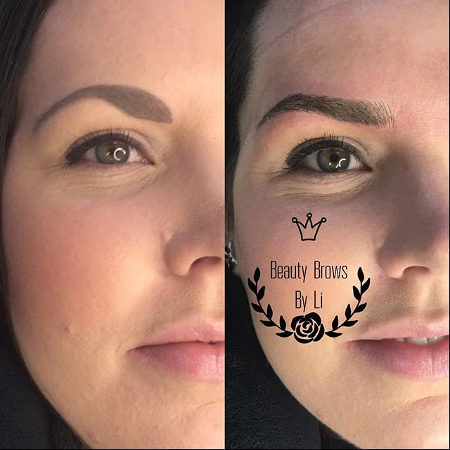 Updated brow shape for this new mama!! Takes time off her busy schedule with no fuss makeup