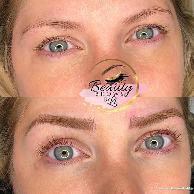 My client wanted more of an arched brow and we gave just that! Instant eyelift for this beauty 😍