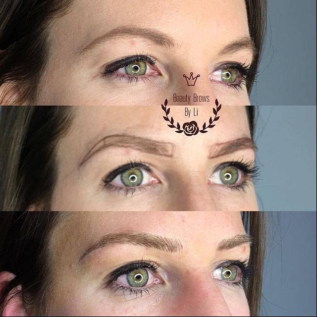 A great comparison.jpg How natural! We lengthened her brow to create this beautiful look