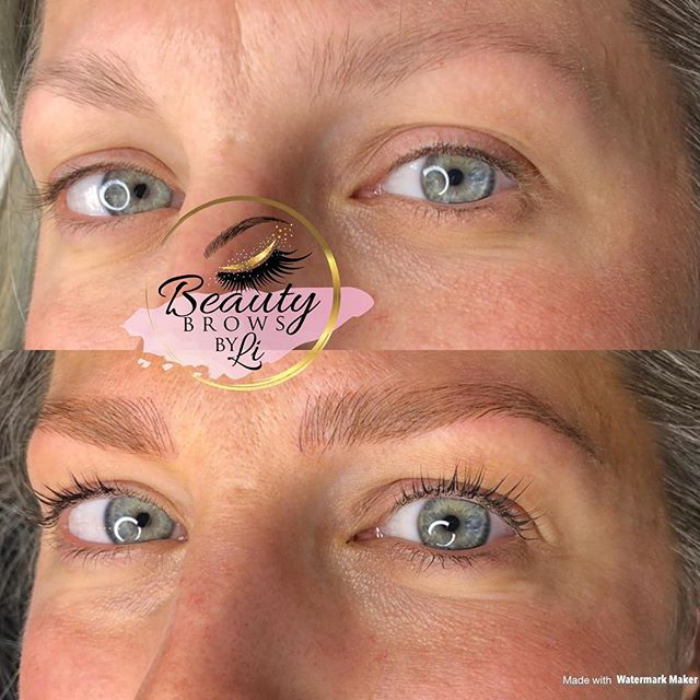 One of my favs! Because she's so awesome and these are so awesome 😝😝😝 lash lift and tint and brow