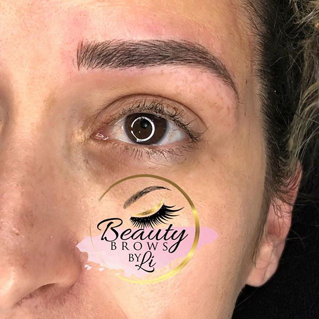Perfectly healed brows! ❤️🧚🏻♀️