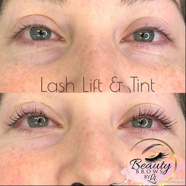 Starting a busy weekend with a Lash Lift & Tint! Take a look at this dramatic effect