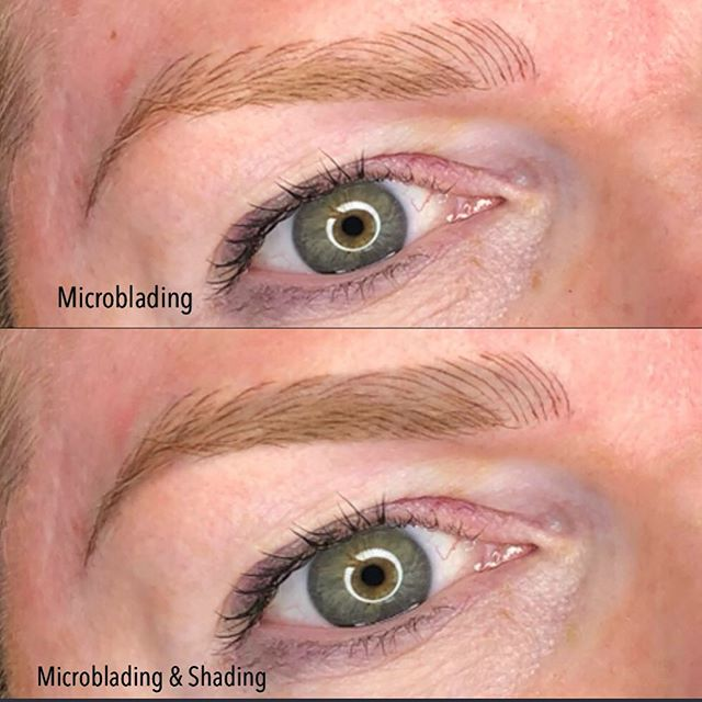 Difference between Microblading and shading effect