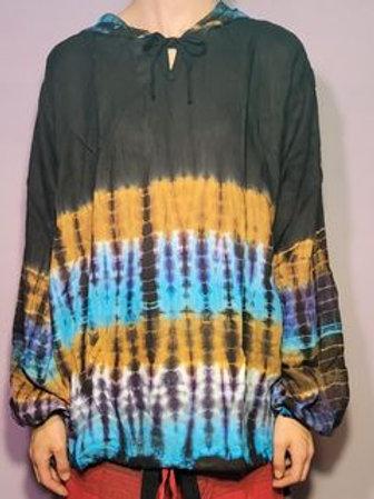 Gypsy Rose Tie-Dye Rayon Hoodie (Free Size)