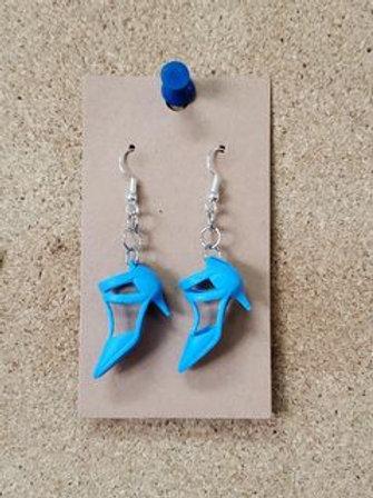 Blue Barbie Heel Earring