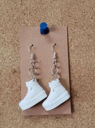 White Barbie Sneaker Earrings