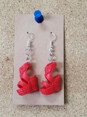 Red Barbie Heel Earrings