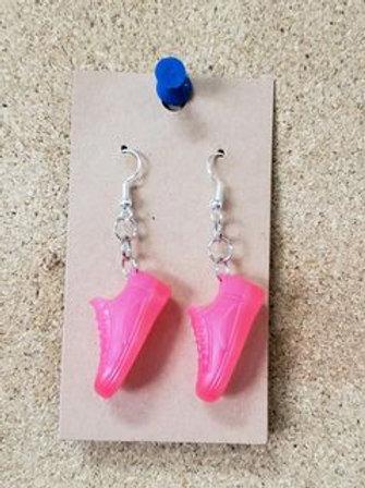 Pink Barbie Sneaker Earrings