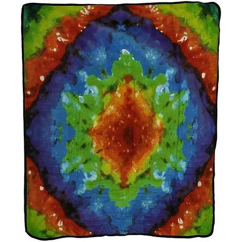 Zeckos Super Soft Tie Dye Pattern Fleece 50 x 60 inch Throw Blanket