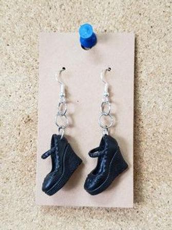 Black Barbie Heel Earrings