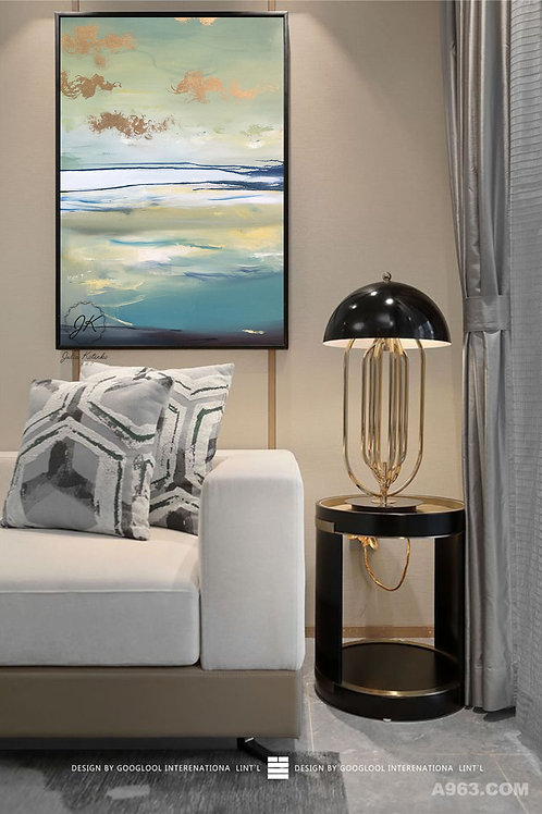 Landscape Abstract Painting, Large Wall Art on Canvas by Julia Kotenko