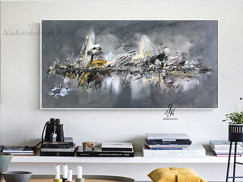 Original Large Abstract Oil Painting on Canvas by Julia Kotenko