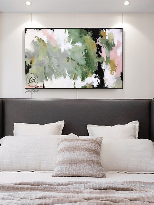 Landscape Abstract Painting, Large Wall Art, Textured Art by Julia Kotenko