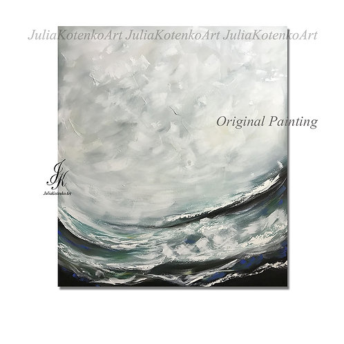 Extra Large Original Abstract Acrylic Painting On Canvas by Julia Kotenko