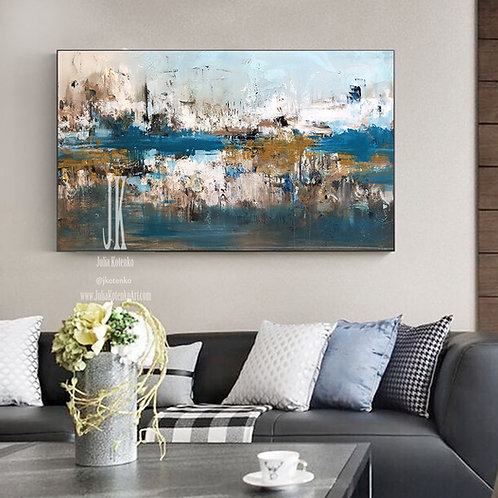 Canvas Art Large, Abstract Painting Original, Contemporary Wall Art  by Julia Kotenko