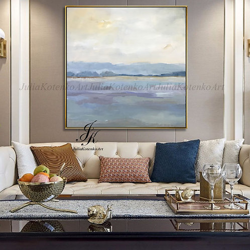 Landscape Abstract Acrylic Painting on Canvas by Julia Kotenko