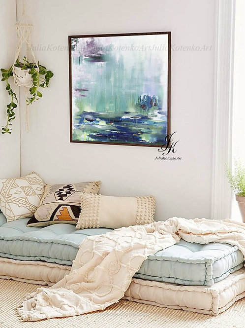 Abstract Painting, Landscape Painting, Canvas Art by Julia Kotenko