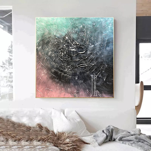Textured Wall Art Original Abstract Oil Painting, Large Original Art by Julia Kotenko