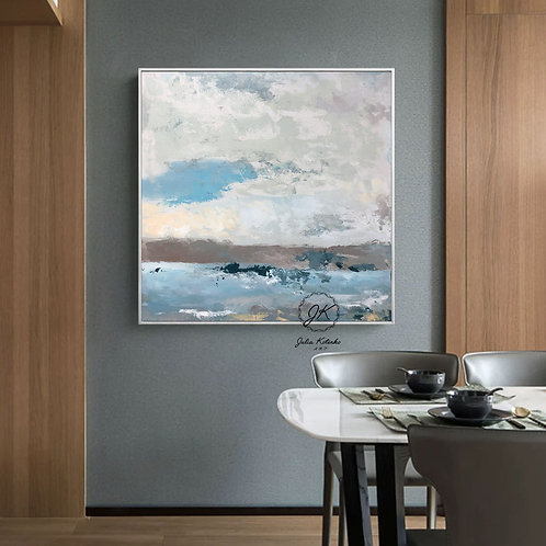 Abstract Landscape Painting\Original Large Wall Art On Canvas by Julia Kotenko