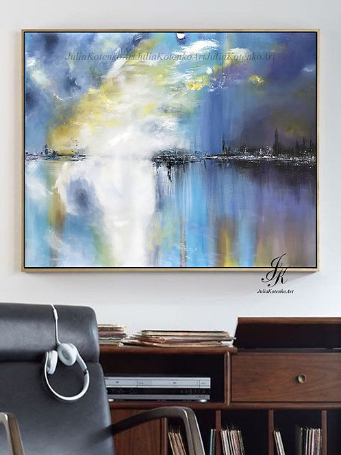bstract Painting, Landscape Painting, Canvas Art by Julia Kotenko