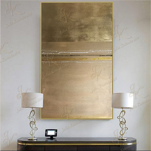 Gold leaf Painting Abstract Painting on canvas by Julia Kotenko