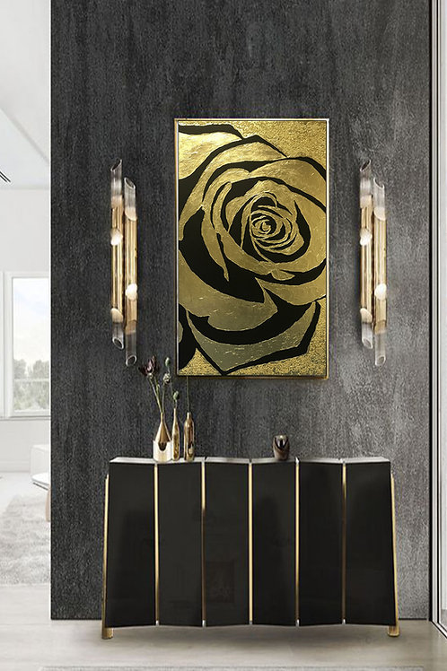 Large Rose Gold Painting Abstract Painting Textured Painting