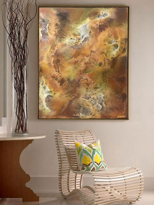 Resin Abstract Painting Original Abstract Painting