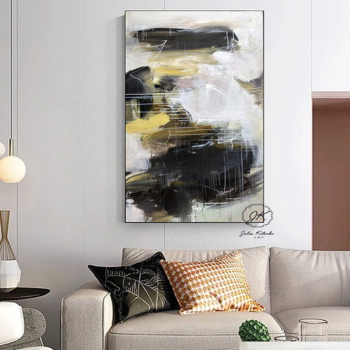 Original Abstract Oil Painting-Modern Decor|Home Decor gift| Painting on Canvas by Julia Kotenko