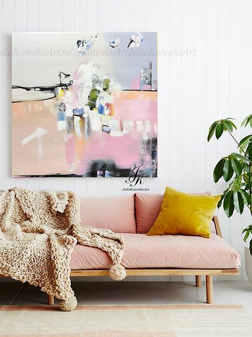 Abstract Painting, Large Wall Art, Canvas Art, Contemporary Art by Julia Kotenko