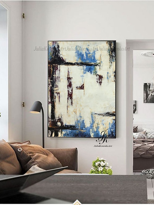 Abstract Painting, Large Wall Art,Acrylic Paintings On Canvas by Julia Kotenko