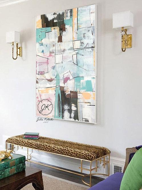 Extra Large wall art, Original Abstract Painting, Textured Wall Art by Julia Kotenko