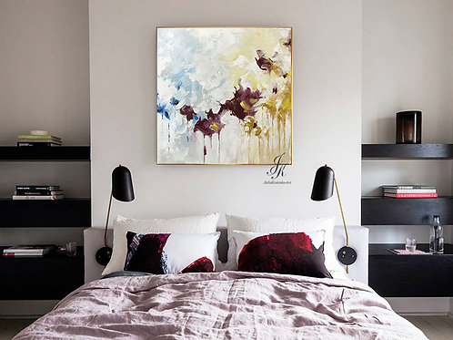 Abstract Acrylic Painting Wall Art on Canvas by Julia Kotenko