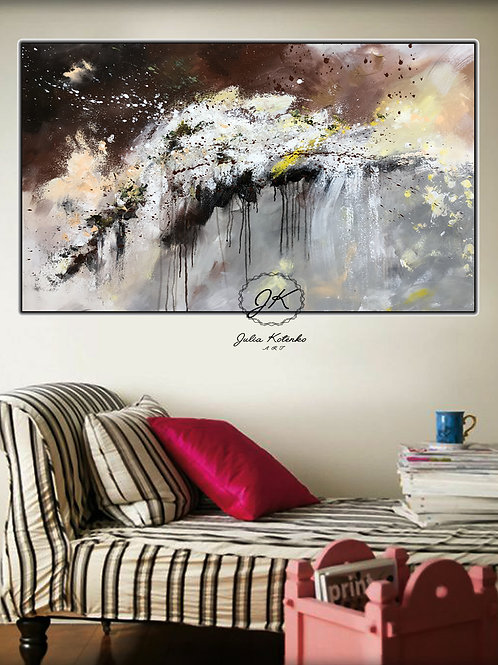 Large Abstract Oil Painting Textured Painting on Canvas by Julia Kotenko