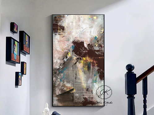 Abstract Painting, Large Wall Art, Textured Art, Large Canvas Art by Julia Kotenko