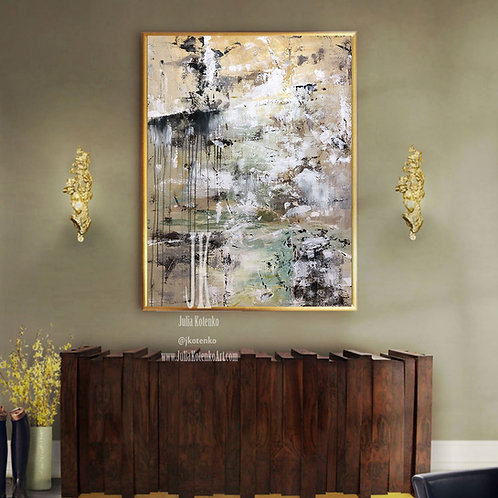 Modern Oil Painting, Original Painting Abstract, Canvas Art Large by Julia Kotenko
