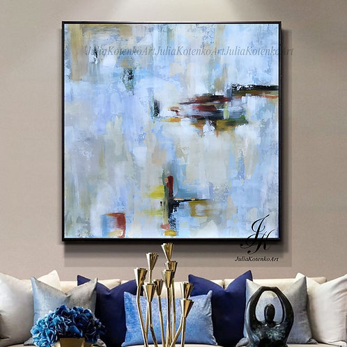Original modern Abstract Painting on Canvas by Julia Kotenko