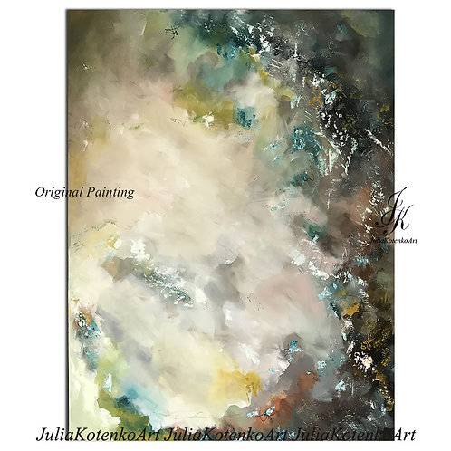 Original Large Abstract Textured Painting On Canvas by Julia Kotenko